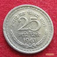 India 25 Naye Paise 1961 B KM# 47.2  Inde Indien - Inde