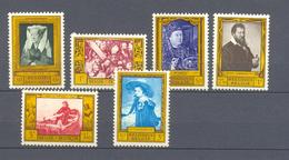 1076/1081 SCHILDERIJEN POSTFRIS** 1958 - Belgique