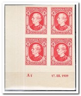 Slowakije 1939, Postfris MNH, Andrej Hlinka ( Nice Corner Piece ) - Slowakije