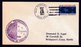 USS, TICONDEROGA ( CVA-14) 1963,Cachet + Postmark, Look Scan,LOW PRICE !! 25.6-29 - Bateaux