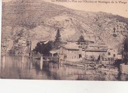CPA - LE POUZIN Vue Sur L'Ouvèze Et Montagne De La Vierge - France