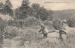 Daverdisse Sur Lesse ,( Redu) ,  Pêcheurs à L'Almache, ( Pêche ,pêcheur à La Ligne ), RARE - Daverdisse