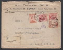 Italien Einschreiben Brief 1922 Genua Nach Hamburg  Lot 1301 - Ohne Zuordnung