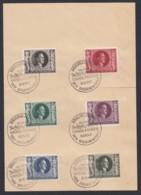 Deutsches Reich Mi Nr 844-849 Kompl Satz Mit Sonderstempel Auf Briefpapier Lot 1325 - Deutschland