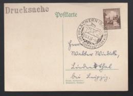 Deutsches Reich Postkarte Drucksache Sonderstempel 1938 Achern Nach Lindenthal Leipzig 1424 - Deutschland