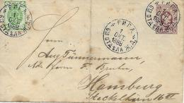 Riga Vers Allemagne 1888 Entier Postal  Voir 2 Scan - Stamped Stationery