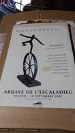 Affiche - Abbaye De L'Escaladieu Juin 2001 Photos Exposition - Affiches