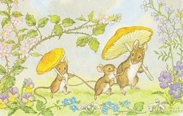 Illustrateur Molly Spring Shower Souris  Champignons - Andere Illustrators