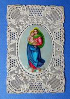 IMAGE PIEUSE...RELIGIEUSE . CANIVET .....LA VIERGE ET L'ENFANT JÉSUS - Images Religieuses