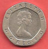 20 Pence , GRANDE BRETAGNE , Cupro-Nickel , 1982 , N° KM # 931 - 1971-… : Decimal Coins