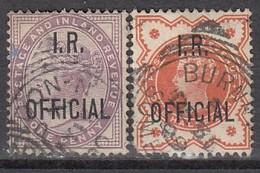 GB Dienst 1882 - Finanzministerium - MiNr: 40 + 48   Used - Dienstpost