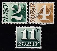 GB Porto 1971 - MiNr: 82 + 84 + 88  Used - Portomarken