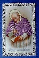 IMAGE PIEUSE...RELIGIEUSE . CANIVET ....VÊTEMENTS EN SOIE ROSE MAUVE....SAINT ALPHONSE DE LIGUORI - Devotion Images