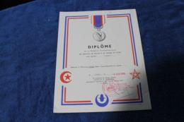Diplome De La Medaille Commémorative MAROC 1960 - Police & Gendarmerie