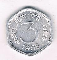 3 PAISE 1968 INDIA /1709/ - Inde