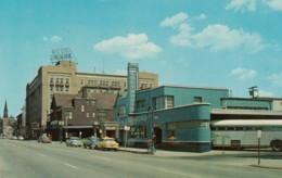 Fort Wayne Indiana, Greyhound Bus Station, Taxi, Jefferson Street Scene, C1950s Vintage Postcard - Fort Wayne