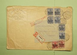 1917 Belgique Occupation BELGIEN 10 Et 25 Cent Brussel Bruxelles Recommandé - WW I