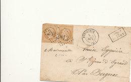 N°13 X 2 SUR LETTRE - 1853-1860 Napoleon III