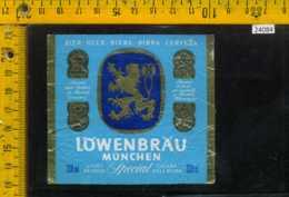 Etichetta Birra Lowenbrau Munchen - Germania - Birra