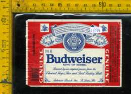 Etichetta Birra Budweiser King Of Beers - USA - Birra