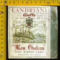 Etichetta Vino Liquore Mon Chateau Vinicola Gieffe - Lago D'Iseo - Etichette