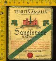 Etichetta Vino Liquore Sangiovese Di Romagna Tenuta Amalia-V. Verucchio FC - Etichette