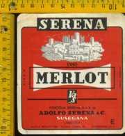 Etichetta Vino Liquore Merlot Vinicola Serena - Susegana TV - Etichette