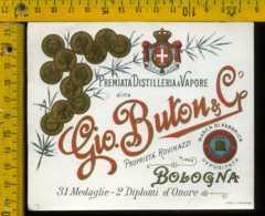 Etichetta Vino Liquore Destilleria Gio Buton - Bologna - Etichette