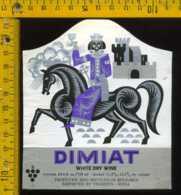 Etichetta Vino Liquore Dimiat - Bulgaria - Etichette