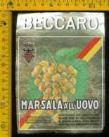 Etichetta Vino Liquore Marsala All'Uovo  Beccaro-Marsala - Etichette