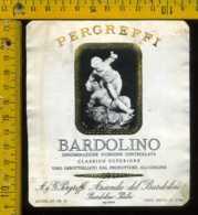 Etichetta Vino Liquore Bardolino Pergreffi - Verona - Etichette