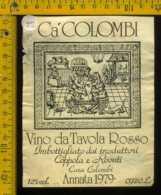 Etichetta Vino Liquore Rosso Ca' Colombi 1979 Coppola E Rovati - Etichette