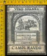 Etichetta Vino Liquore Spanna Cantina Campi Raudii - Maggiora - Etichette