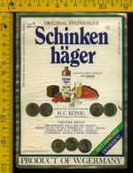 Etichetta Vino Liquore Schinken Hager - Germania - Etichette