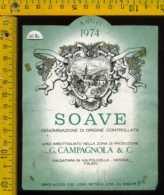 Etichetta Vino Liquore Soave 1974 G.Campagnola - Valgatara In Valpolicella VR - Etichette