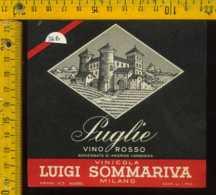 Etichetta Vino Liquore Puglie Rosso Vinicola L. Sommariva - Milano - Etichette