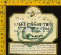 Etichetta Vino Liquore Entre-Deux-Mers 1964 - Francia - Etichette