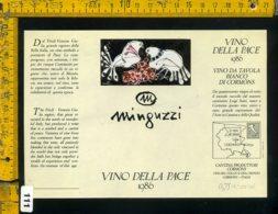 Etichetta Vino Liquore Vino Della Pace 1986 Luciano Minguzzi - Etichette