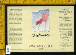 Etichetta Vino Liquore Vino Della Pace 1985 Erik Dietman - Etichette