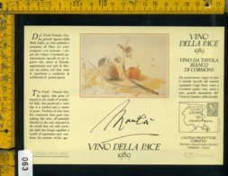 Etichetta Vino Liquore Vino Della Pace 1989 Giacomo Manzù - Etichette