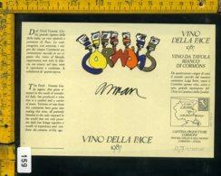 Etichetta Vino Liquore Vino Della Pace 1987 Fernandez Arman - Etichette