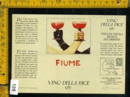 Etichetta Vino Liquore Vino Della Pace 1987 Salvatore Fiume - Etichette