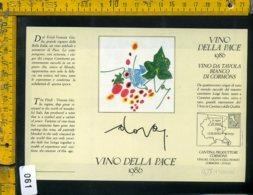 Etichetta Vino Liquore Vino Della Pace 1986 Gianni Dova - Etichette