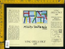 Etichetta Vino Liquore Vino Della Pace 1988 Piero Dorazio - Etichette