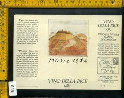 Etichetta Vino Liquore Vino Della Pace 1985 Music - Etichette