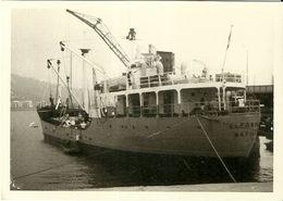 """2863 """" NAVE DA CARICO- ELEONORA-NAPOLI- ORMEGGIATO-SETTEMBRE 1963 """" FOTO ORIG. - Barche"""