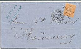N°23 SUR LETTRE - 1862 Napoleon III