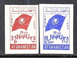 AFGHANISTAN   435-36   **  FLAGS    UNITED  NATIONS - Afghanistan