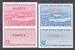 U.S.  RVB 1-2    **  MOTOR  BOAT  STAMPS - Revenues
