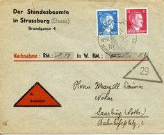 Lettre Recommandée En Contre Remboursement De Strasbourg Pour Sarrebourg - Alsace-Lorraine